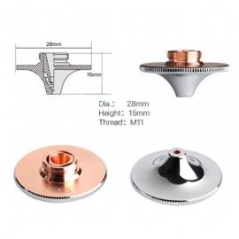 Сопло Ø28мм Precitec коническое двуслойное (хром; диаметр 28мм; высота 15 мм)